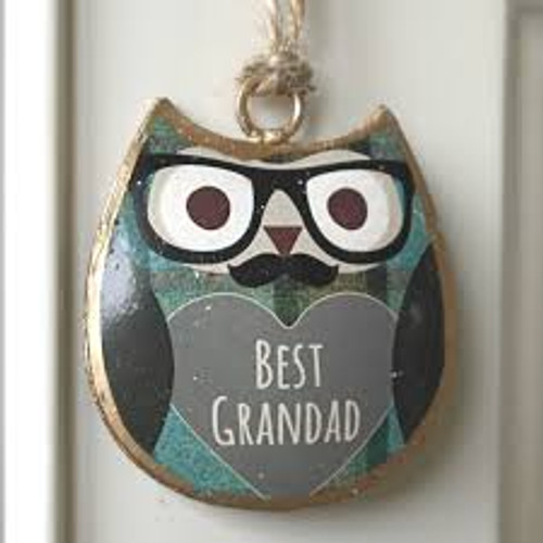 Bernard Mini Best Grandad Hanging Owl