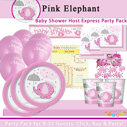 Pink Elephant Party Pack Express (8 Guests)