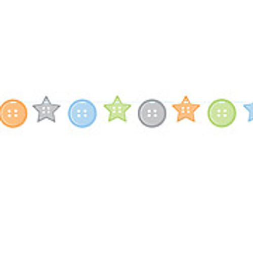 Cute as a Button Boy Ribbon Banner