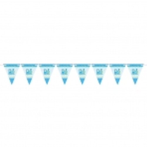 Welcome Baby Boy Pennant Banner