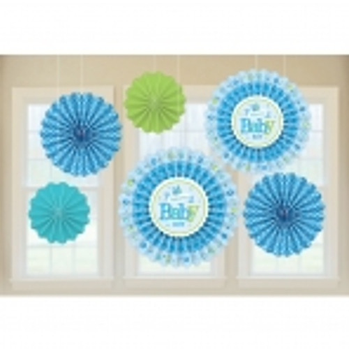 Welcome Baby Boy Fan Decorations (6)