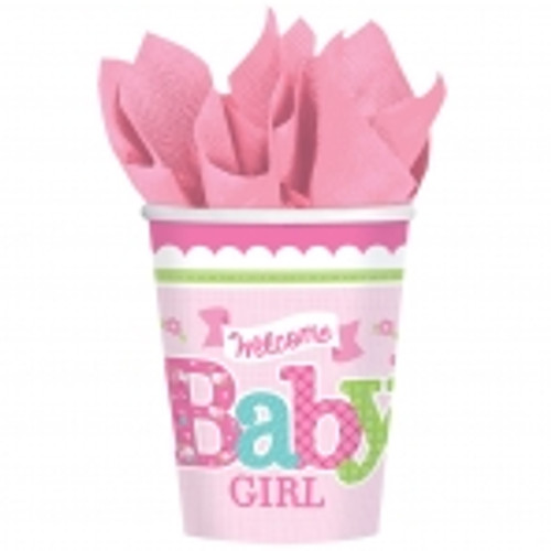 Welcome Baby Girl Cups (8)