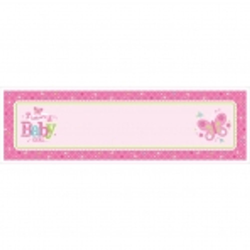 Welcome Baby Girl Personalised Giant Banner