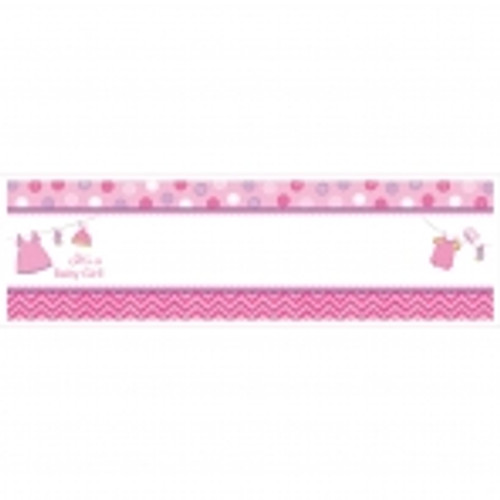 With Love Girl Personalised Giant Banner
