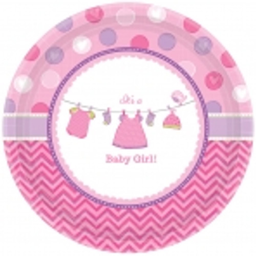With Love Girl Dessert Plates (8)