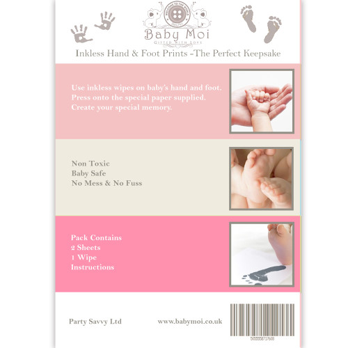 Baby Inkless Hand and Foot print Kit Pink