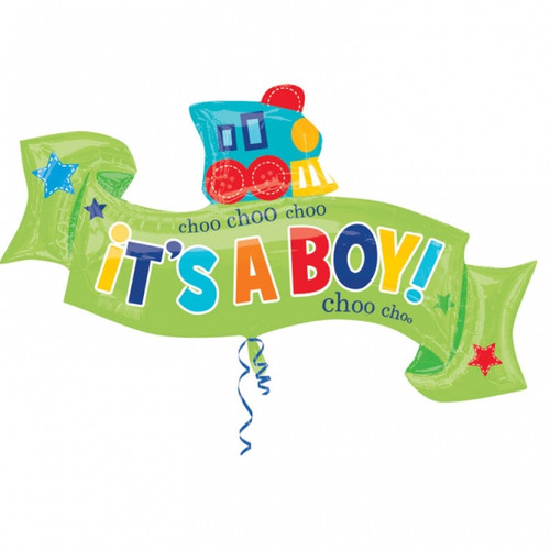 Welcome Little Boy Supershape Foil Balloon