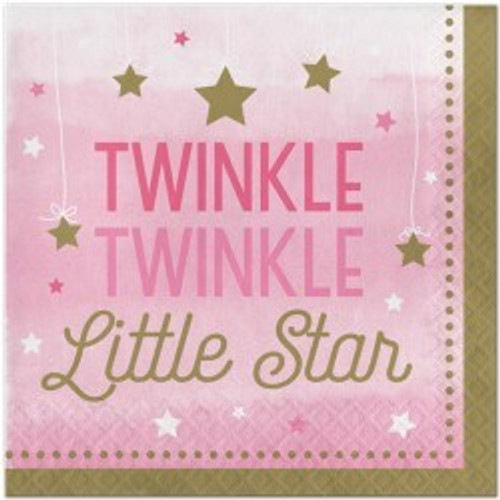 Twinkle Little Star Girl Napkins (16)