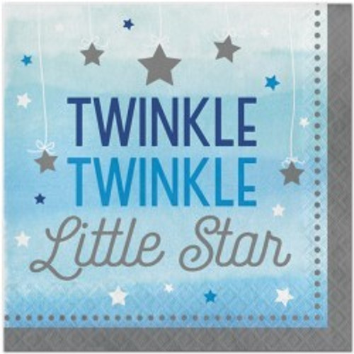 Twinkle Little Star Boy Napkins (16)