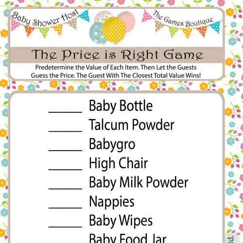 Baby Shower Price is Right Game (16)