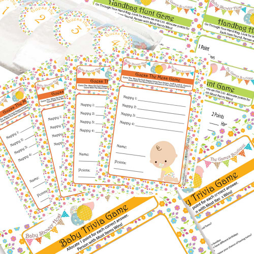 3 Signature Baby Shower Games