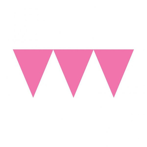Pale Pink pennant banner