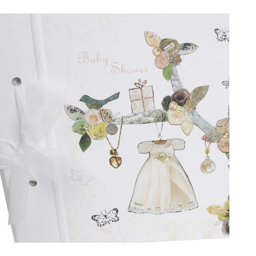 Baby shower dress memory book
