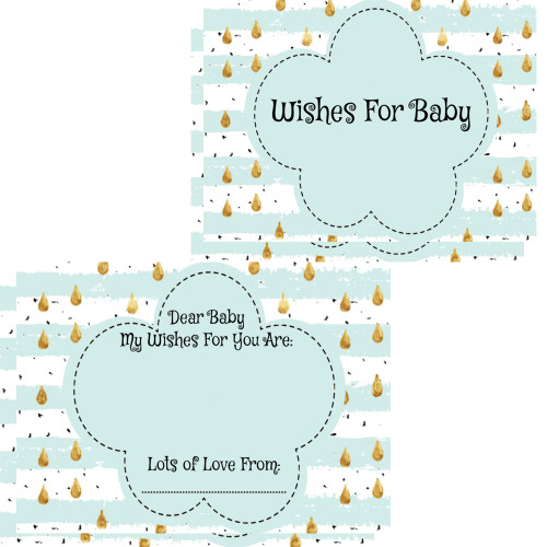 Baby Wishes Cards Mint Raindrop (16)