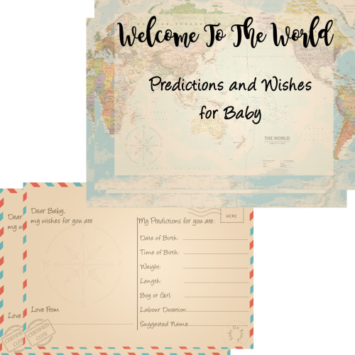 Welcome To The World Baby Predictions & Wishes Cards (16)