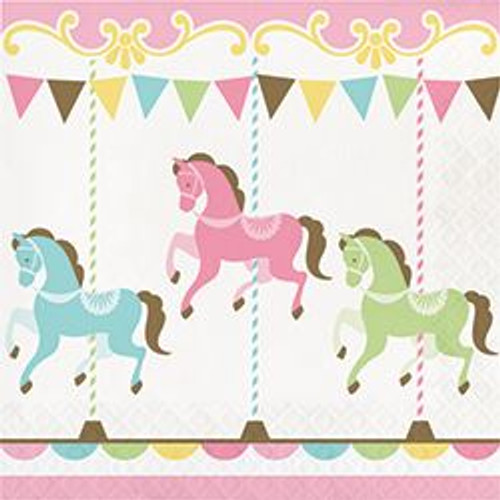 Carousel lunch napkins (16)