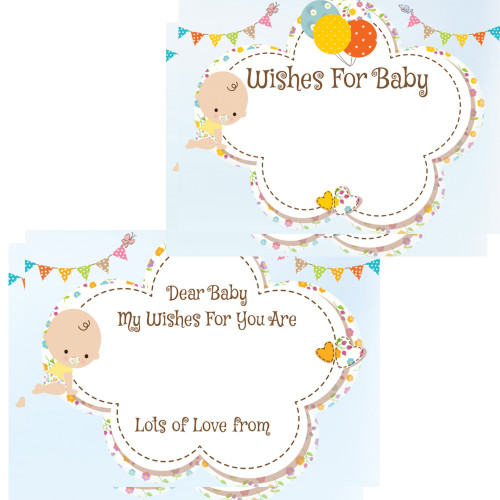 Baby Wishes Cards White Baby (16 Guests)