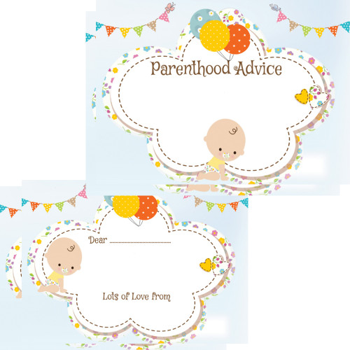 Parenthood Advice Cards White Baby (16 guests)