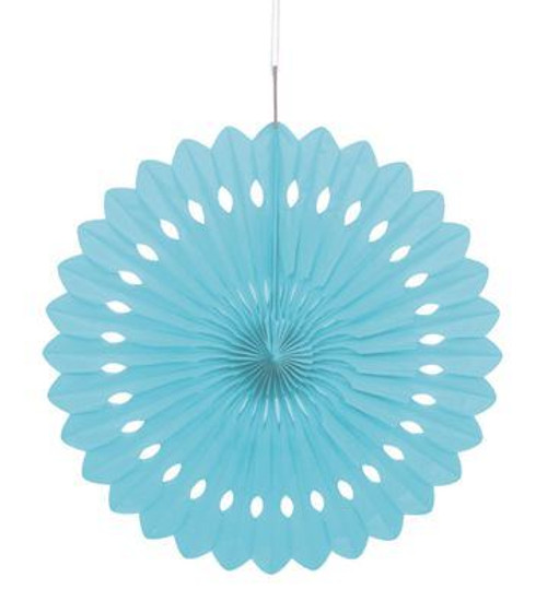 Paper Blue Hanging fan decoration