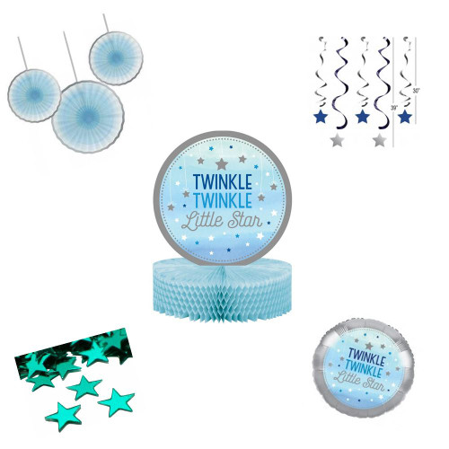 Twinkle Little Star Boy Decoration Pack