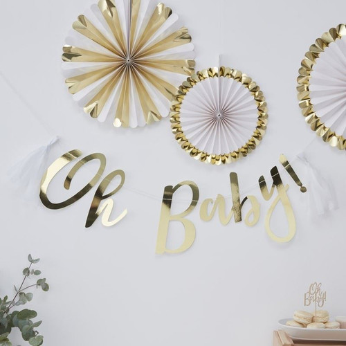 Oh Baby! gold foil bunting