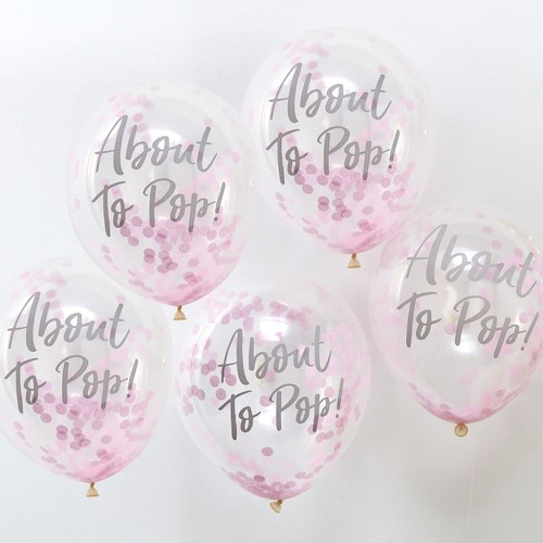 About to pop! pink printed confetti balloons (5)
