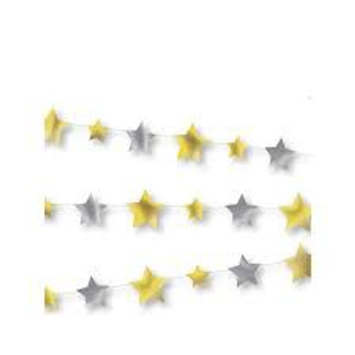 Gold and silver star banner