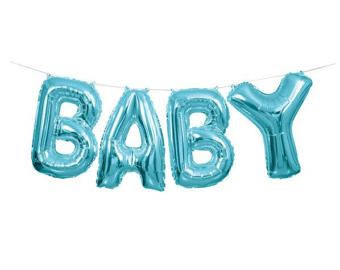 baby boy balloon banner kit
