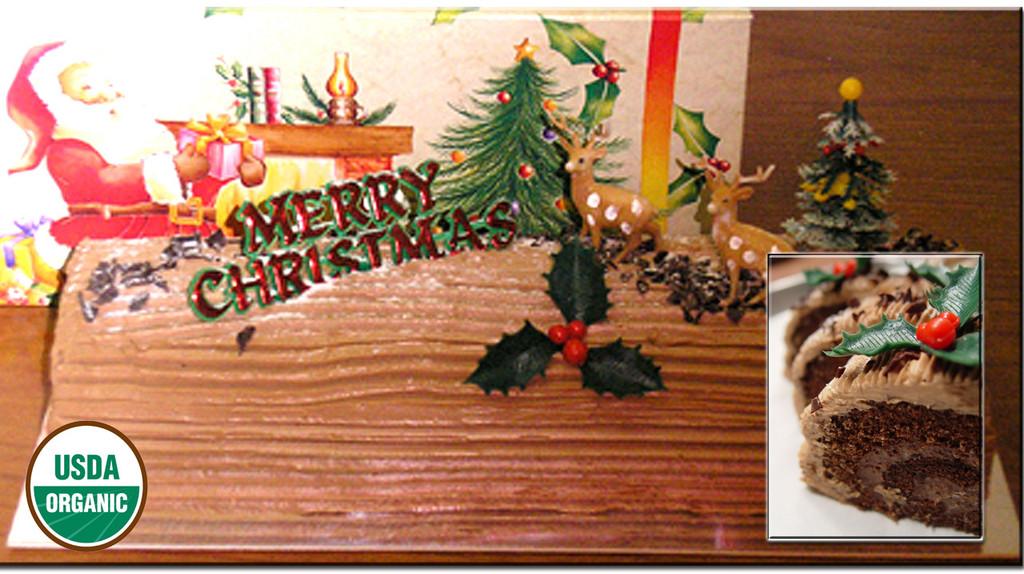 ORGANIC CHRISTMAS LOG # 4