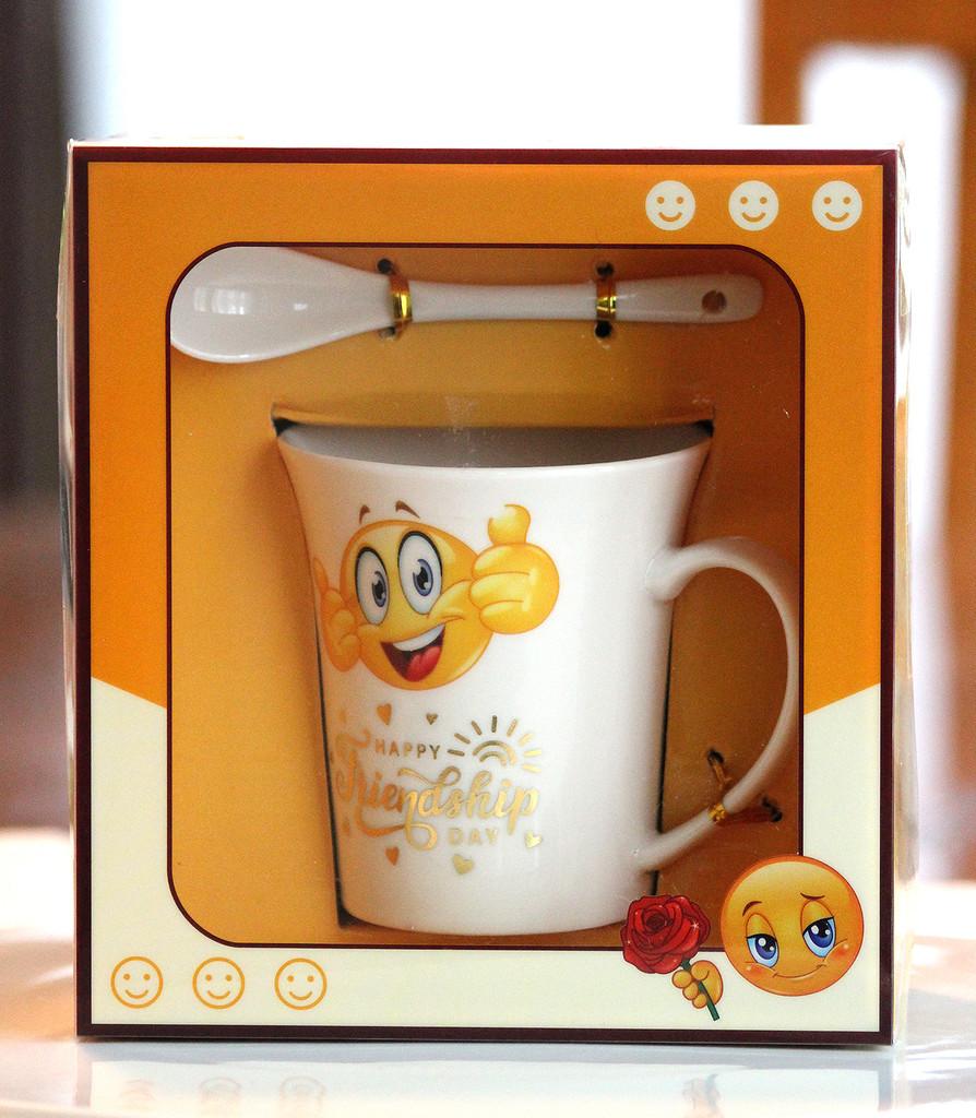 SHIPPING: Smiley Friendship Day Mug Set - View Options