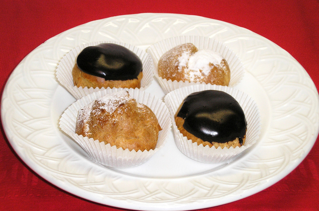 STORE-PICK-UP: Small Organic Round Puffs - Set of Four, Indicate Your Choice, Chocolate, Coffee or Vanilla.