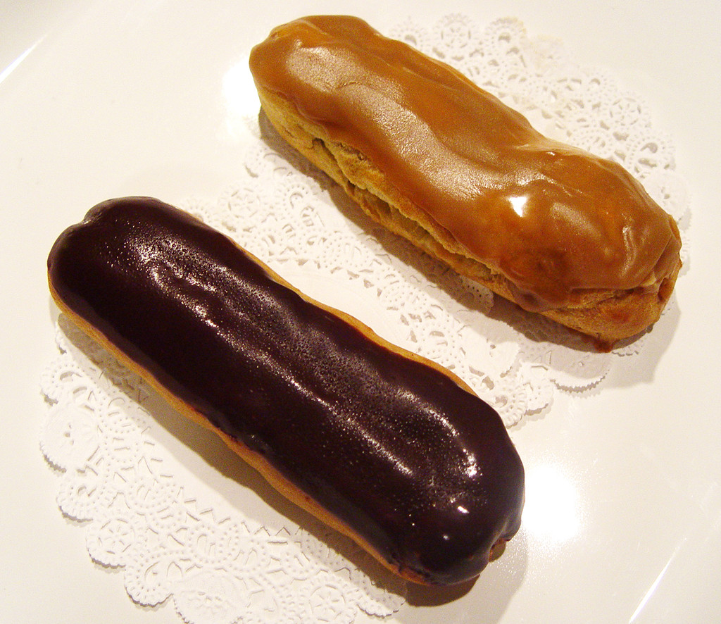 STORE-PICK-UP: Organic Eclairs - Set of Four, Indicate Your Choice, Chocolate, Coffee or Vanilla, or Mix!