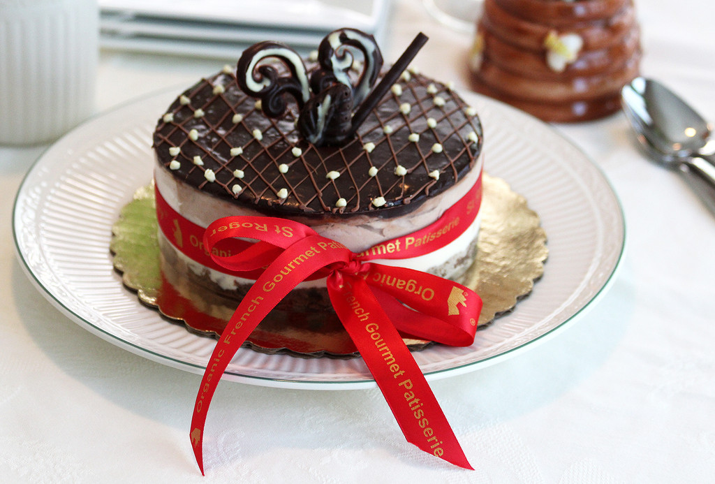 STORE-PICK-UP: 3-Chocolate Organic Cake, size is your choice, below.