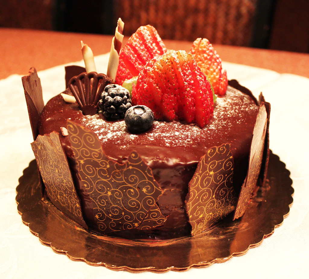 STORE-PICK-UP: Chocolate Fruit Cake, size is your choice, below.