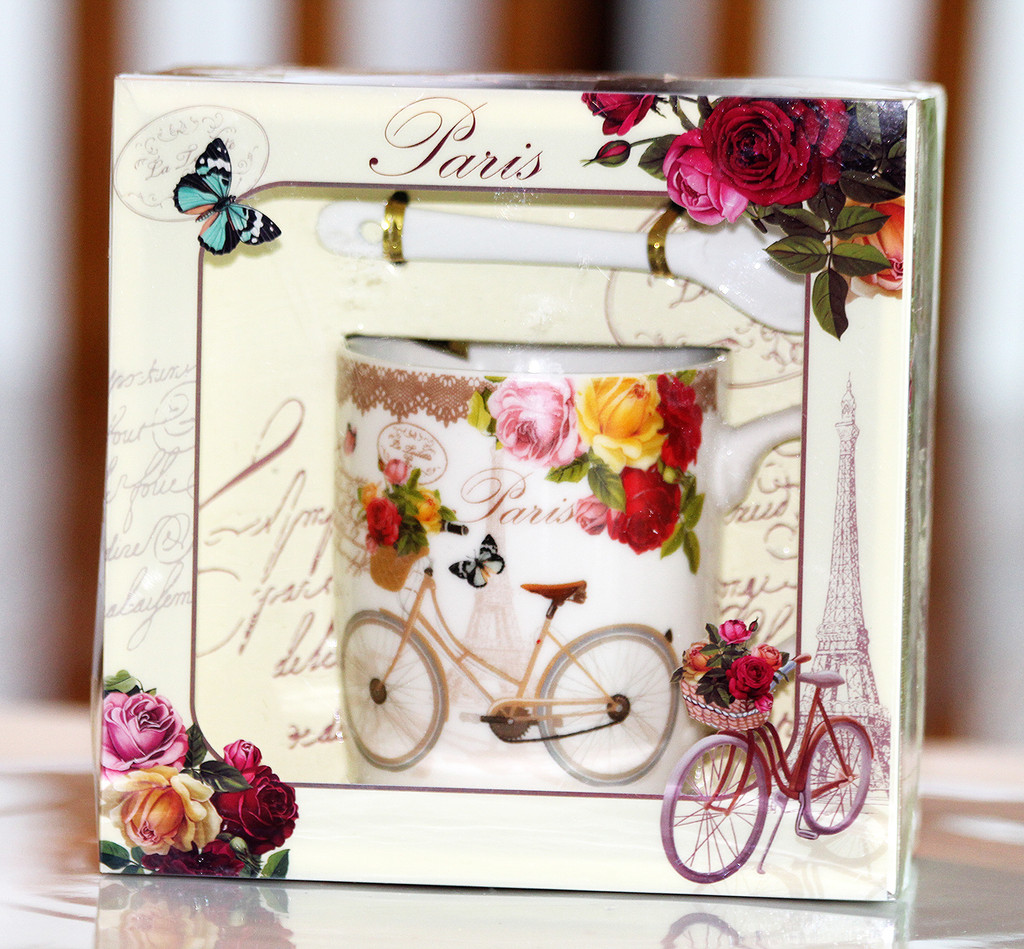 STORE-PICK-UP: From Paris With Flowers Mug Set - Pick the Flowers!