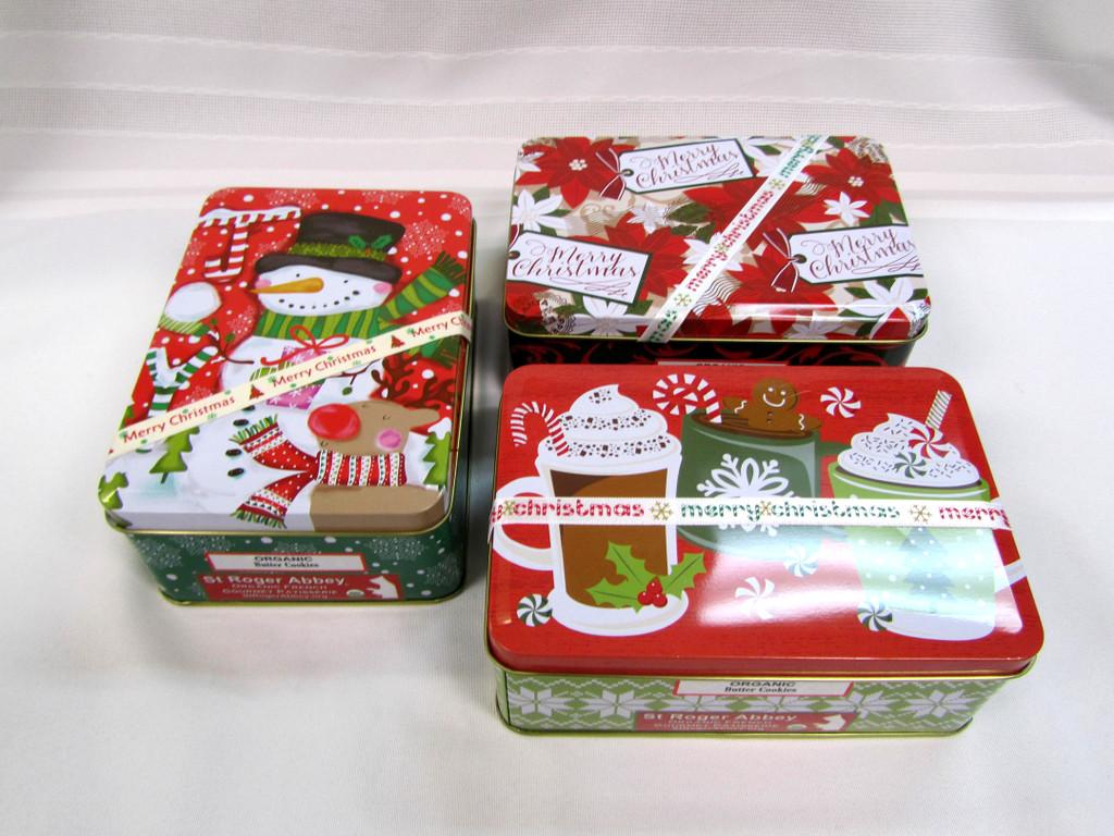 SHIPPING: Medium Rectangular Box of Organic Butter Cookies