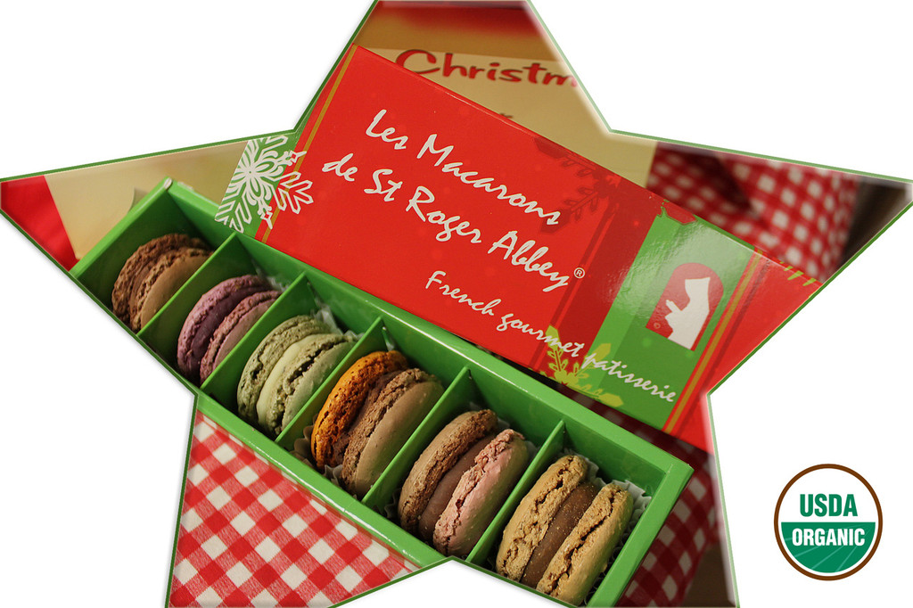 Delicious Organic French Macaron from St Roger Abbey