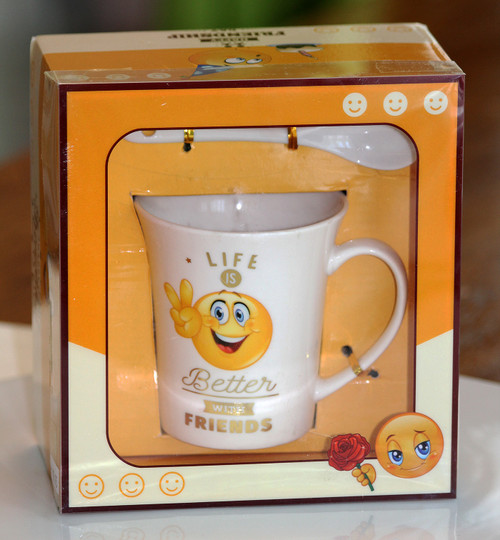 SHIPPING: Smiley Friendship Day Mug Set - View Options