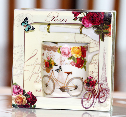 SHIPPING: From Paris With Flowers Mug Set - Pick the Flowers!