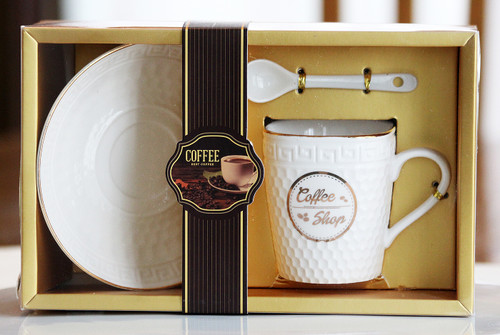 SHIPPING: Elegant Coffee Cup Set - Pick the Design You Like