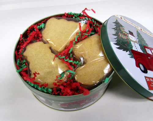 SHIPPING: Large Round Box of Organic Butter Cookies