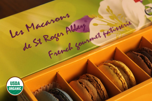 SHIPPING: ORGANIC FLOWER FRENCH MACARON ASSORTMENT