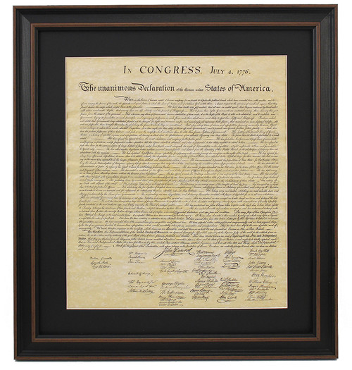 Framed Declaration of Independence with Mat