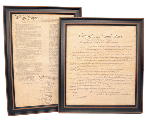 Framed Constitution and Bill of Rights Set