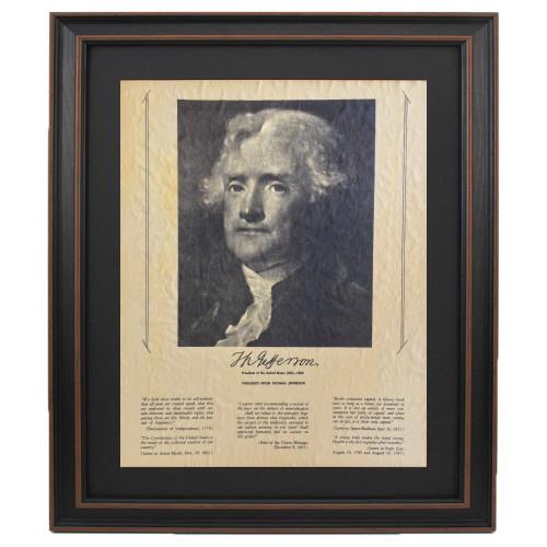 Framed Thomas Jefferson Portrait