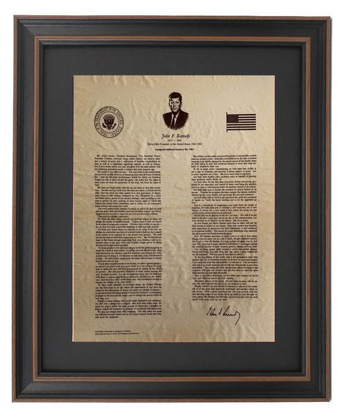JFK Inaugural Address and Portrait