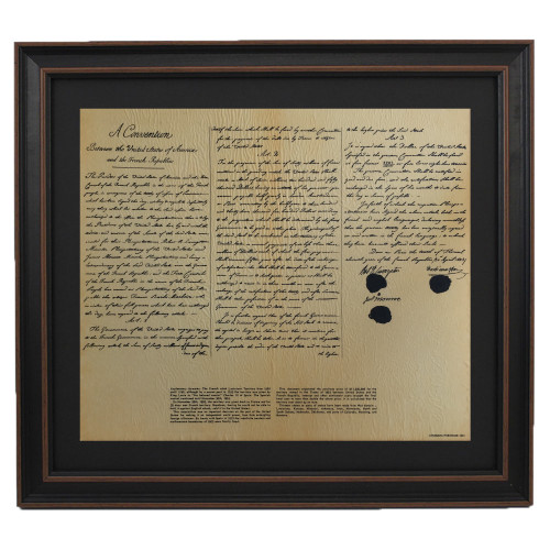 Framed Louisiana Purchase with Mat
