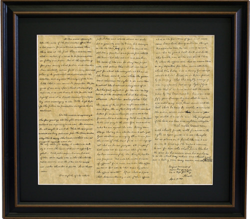 Framed Abraham Lincoln's Second Inaugural Address