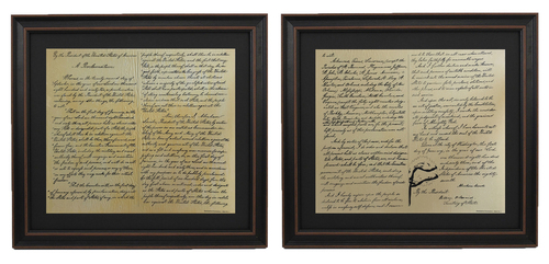 Framed Emancipation Proclamation Set with Black Matte