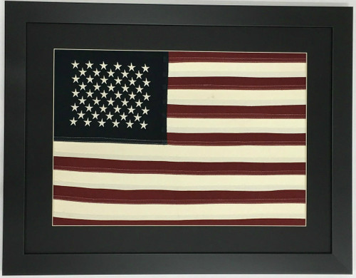 Framed American Flag - 50 Star Natural Cotton American Flag